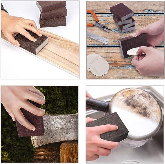 para Pulir Muebles de Madera y Utensilios de Metal YFSEOS 6PCS Esponja de Lijar Mojado Etc 6 Especificaciones Diferentes Almohadillas de Esponja para Lijar en H/úmedo y en Seco