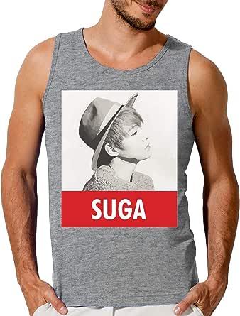 BTS Suga Camiseta sin Mangas para Hombre Large: Amazon.es: Ropa