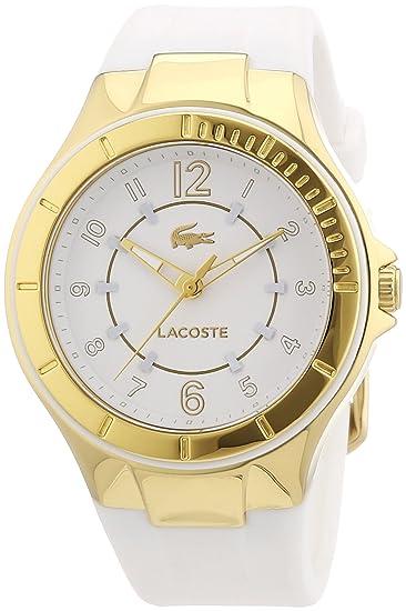 Lacoste 2000756 - Reloj analógico de cuarzo para mujer con correa de silicona, color blanco