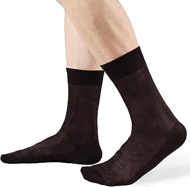 Calcetines de hombre cortos, lisos, gasa, 100% algodón, hilo de ...