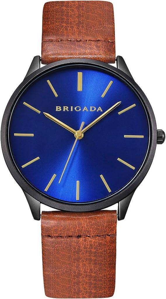 Black Blue Nice Fashion Men Dress Watch for Men Minimalist Business Casual Quartz Men's Wrist Watch Waterproof