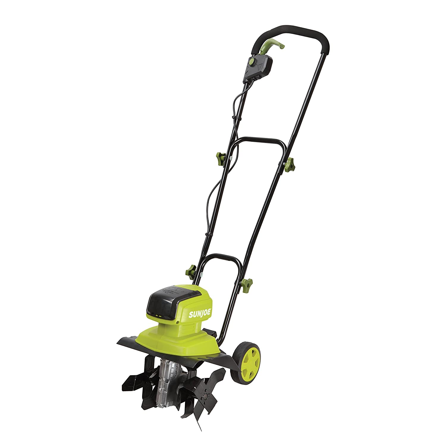 "Sun Joe iON12TL 40V 4 Amp Brushless Motor 12"" Front Tine Cordless Tiller + Cultivator with Wheels"