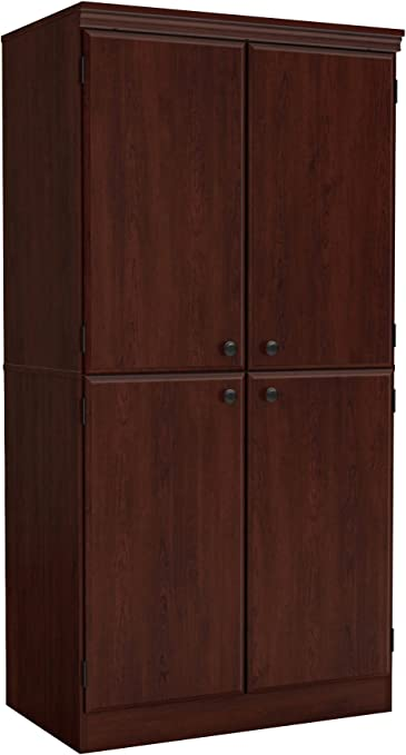 South Shore Morgan Collection Storage Cabinet Royal Cherry Amazon Co Uk Kitchen Home