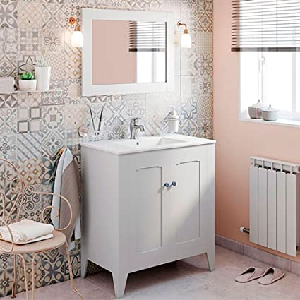 Simple Vintage Bathroom Vanity Decoration Ideas