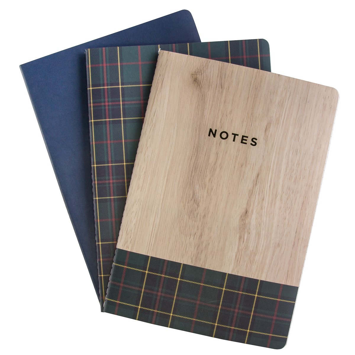"""George Stanley (3 Pack) Journals to Write in 10 x 7"""" Notebook Soft Cover Ruled 120 Lined Pages Bulk"""