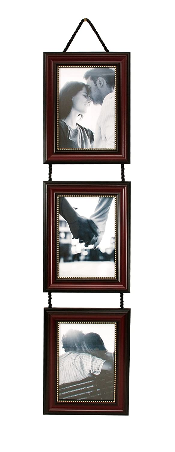 vertical picture frames hanging ribbon collage 5x7 inch photo 3 piece set decor ebay. Black Bedroom Furniture Sets. Home Design Ideas