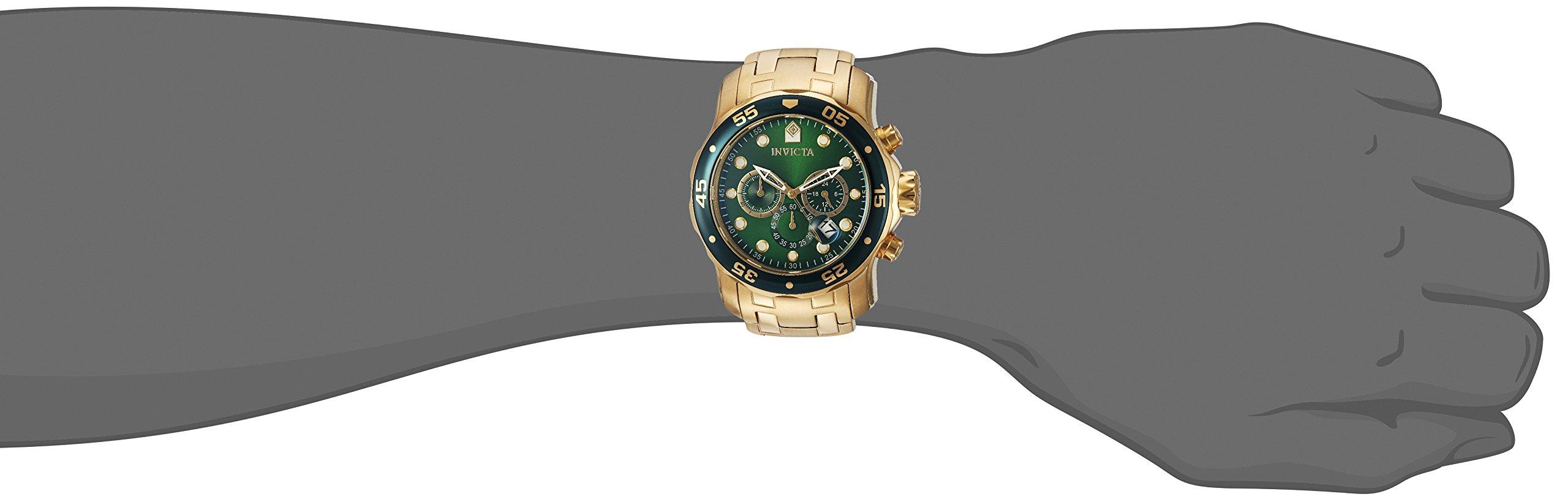 Invicta Men's 0075 Pro Diver Chronograph 18k Gold-Plated Watch by Invicta (Image #4)