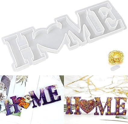 Stampo in Resina per Decorazione da Tavola Artigianale Fai-da-te WENTS Stampi in Resina Epossidica per Fai-da-te Ornamenti per Stampi in Silicone Decorazione per Stampi in Silicone LOVE