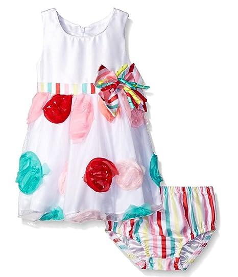 1add31173 Amazon.com  Bonnie Jean Baby Girls Multi Polka Dot Birthday Dress ...