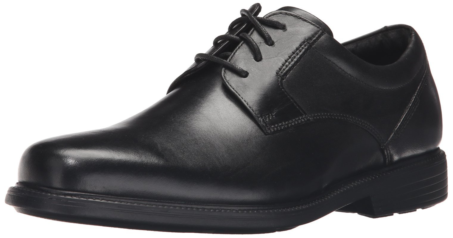 Rockport Men's Charles Road Plain Toe Oxford Black Leather 9 M (D)-9  M