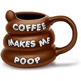 BigMouth Inc Coffee Makes Me Poop Mug, Brown