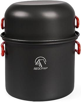 Redcamp Aluminum 5-Piece Camping Cookware Kit