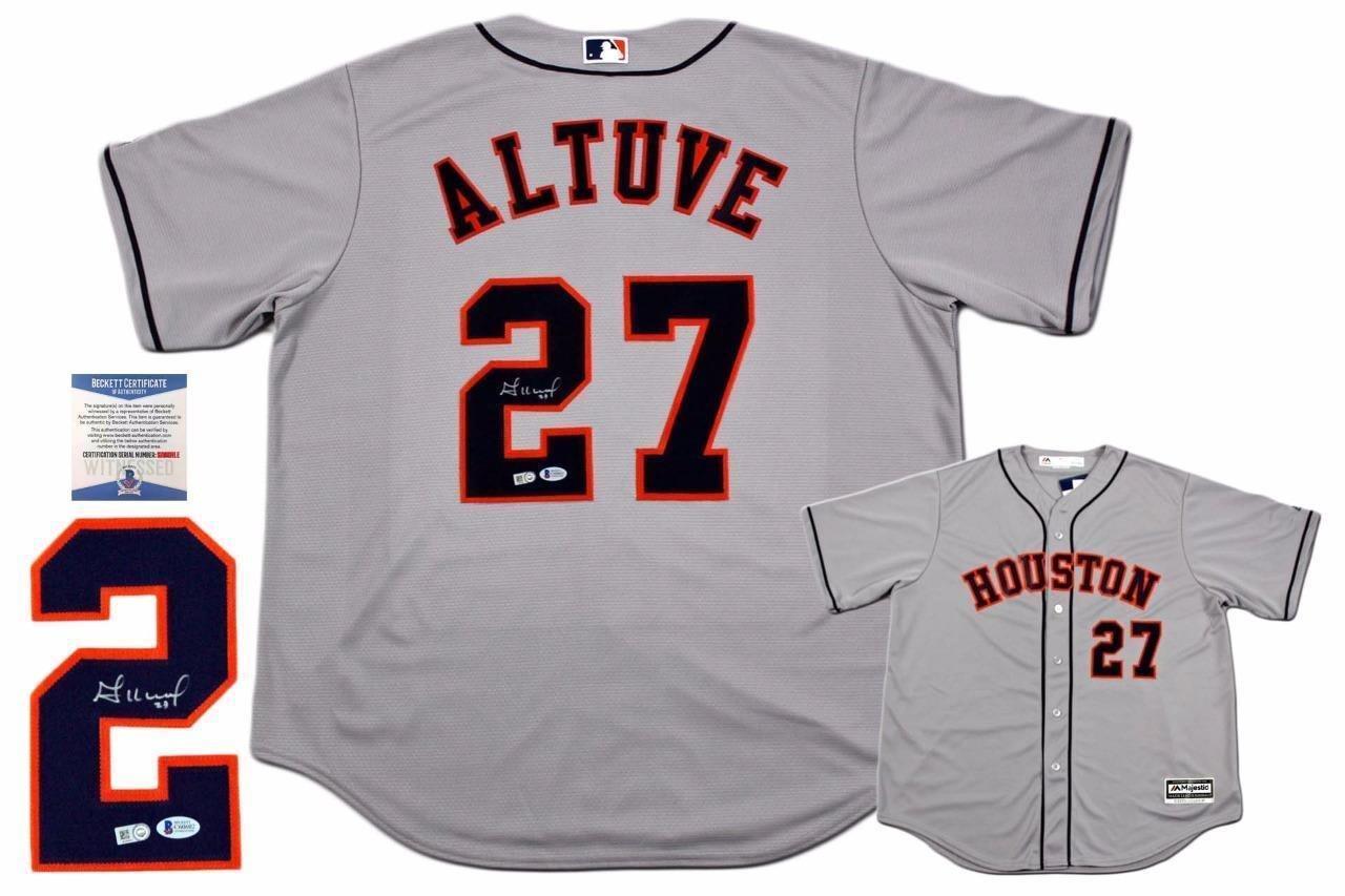 Jose Altuve Signed Jersey - Majestic - Autographed MLB Jerseys Brennans Sports