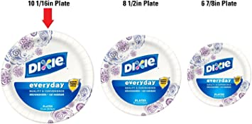 Amazon.com Dixie Jumbo Size Pack Heavy-Duty Paper Plates 10 1/16 Inches Huge Value Pack  480 Count-Heavy Duty Plates Kitchen u0026 Dining  sc 1 st  Amazon.com & Amazon.com: Dixie Jumbo Size Pack Heavy-Duty Paper Plates 10 1/16 ...