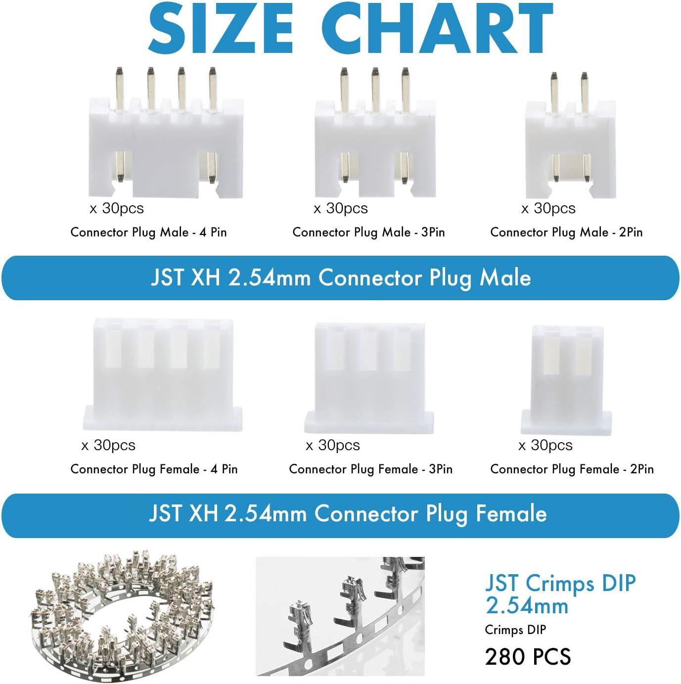9 10 Pin Stecker Kabel JST XH kompatibel Anet A8 JST XH 2 7 4 5 3 8 6
