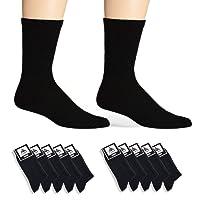 Cliff Edge atmungsaktive PREMIUM Socken aus Baumwolle für Business und Freizeit | Farbe schwarz | (5 Paar) (10 Paare)