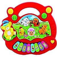 Monbedos piano giocattoli per bambini Cartoon Animal tastiera elettronica multifunzione per bambini precoce gioco educativo Learning (colore casuale)