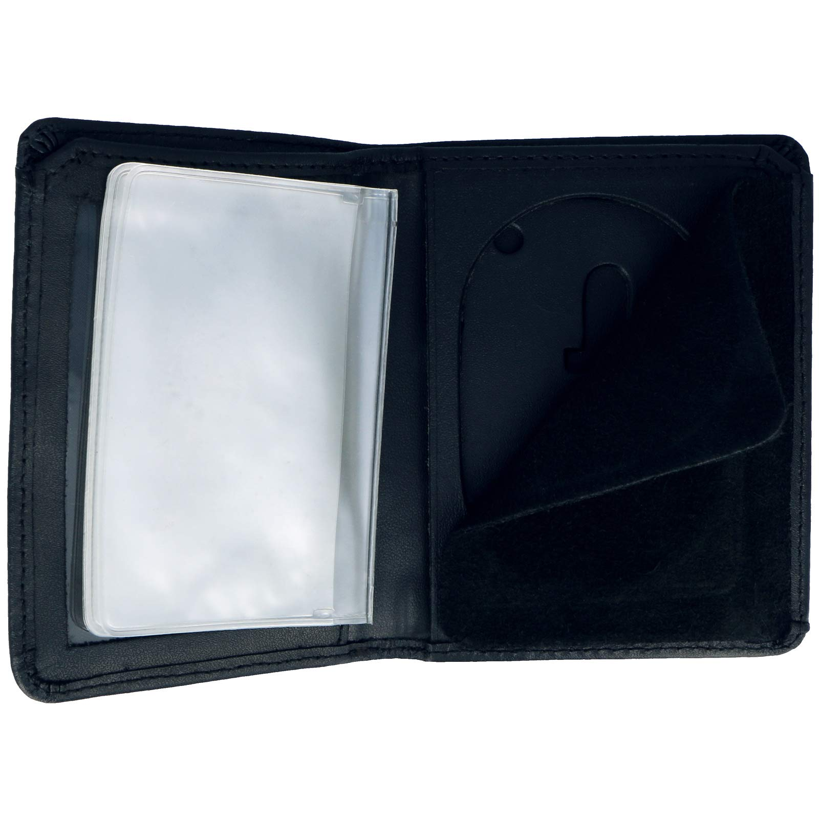 Genuine Leather Unisex Law Enforcement Badge Holder Wallet Case - Oval by ASR Federal