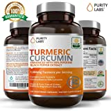Certified Organic Turmeric Curcumin Supplement 120 Count 1,100mg Tumeric capsules per Serving with 95% Curcuminoids and Piperine Black Pepper Extract Non-GMO Gluten-Free Increased Bioavailability