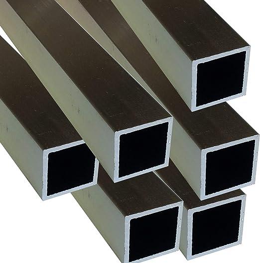 200 cm Alu Quadratrohr 20 x 20 x 1,5 mm Vierkantrohr Voliere Aluminium AlMgSi0,5 Rechteckrohr Profil Aluprofil Rohr