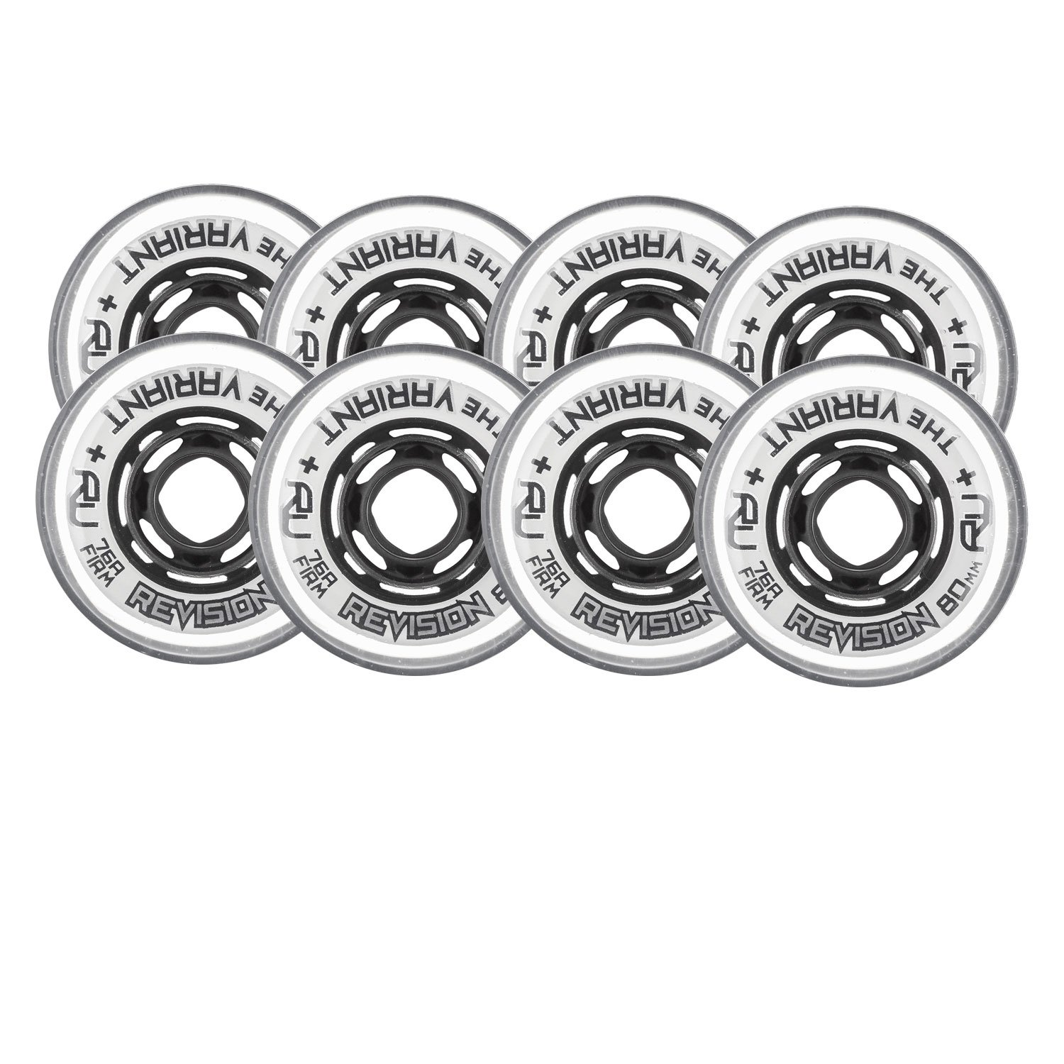 Revision Wheels Inline Roller Hockey Variant Firm White 76mm 80mm 76A Hilo Set