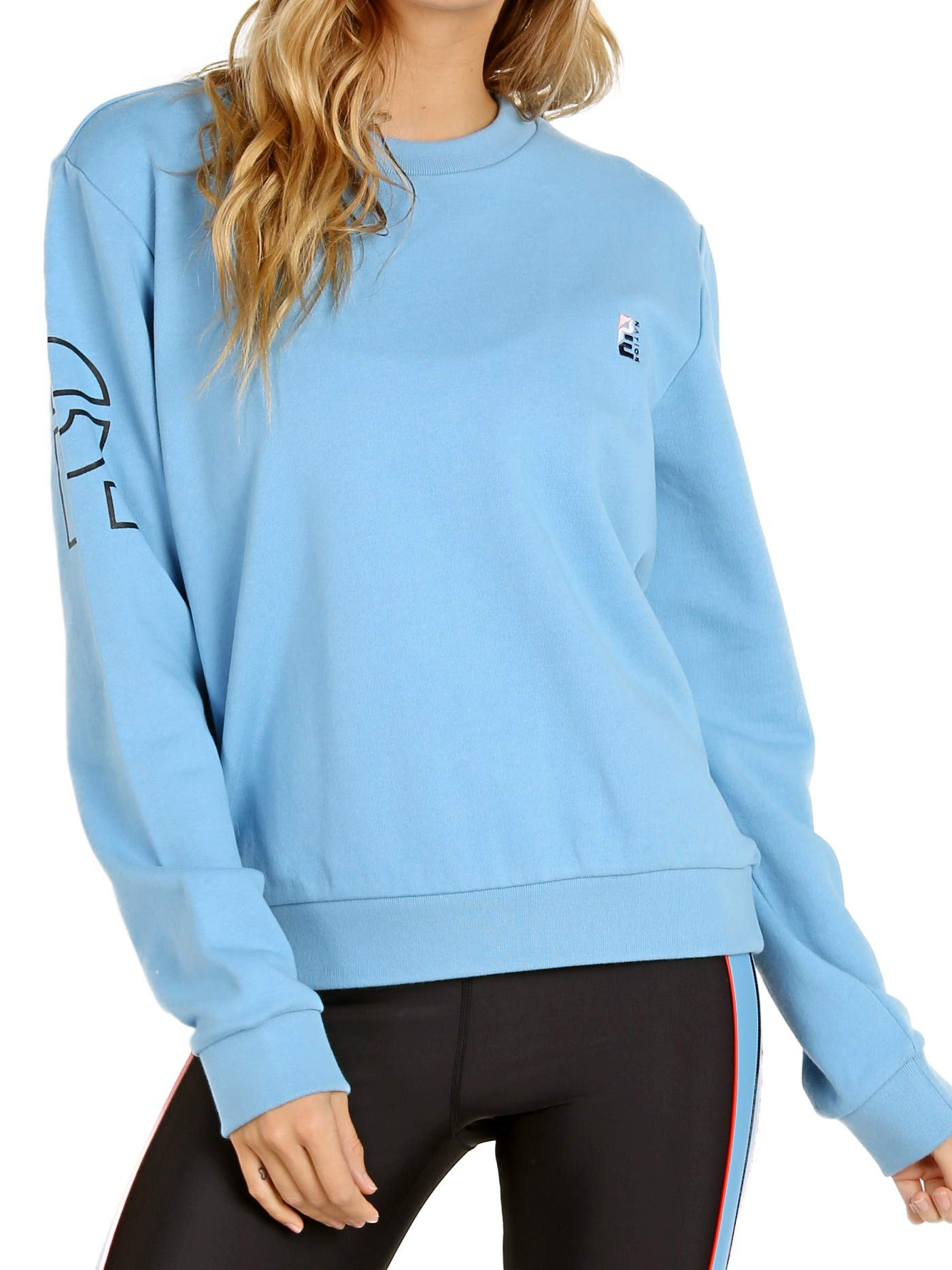 PE NATION The Moneyball Sweater Sky Blue