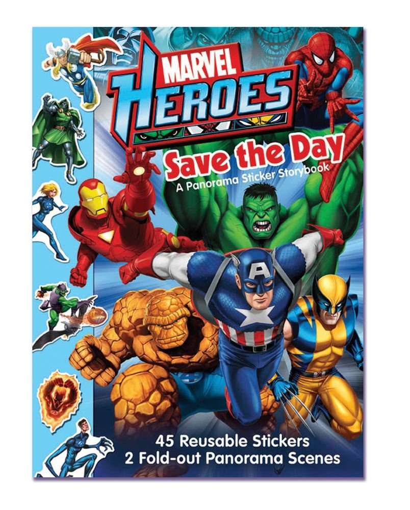 Marvel Heroes Save the Day A Panorama Sticker Storybook pdf epub