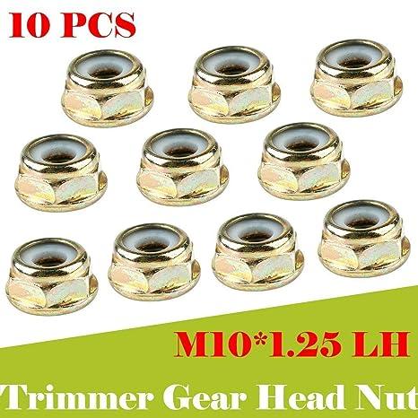 Universal M10x1.25 Left Hand Thread Blade Nut for Strimmer Brush Cutter Trimmer
