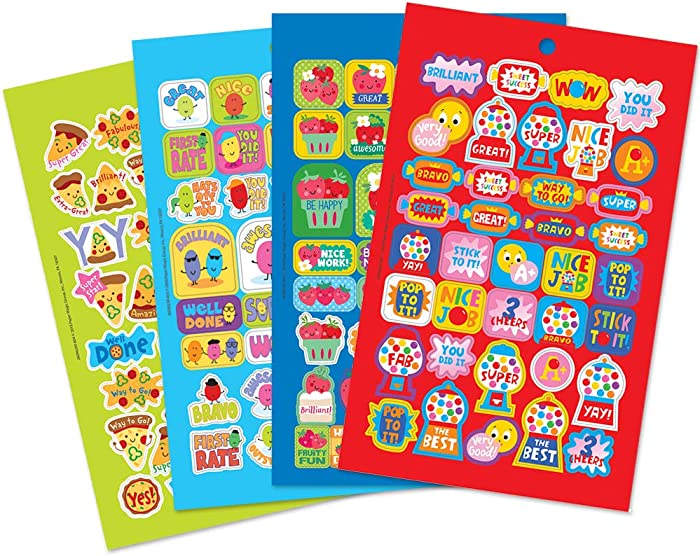 Eureka Scented Motivational Stickers for Kids and School Teachers, 302pcs