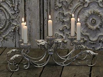 Amazon.de: chic antique° franz. kerzen leuchter° metall