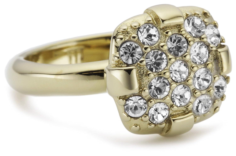 c982b795a Dyrberg/Kern 332001 Cadence Iii Sg/Crystal Brass Ring Size Q 1/2: Amazon.co. uk: Jewellery