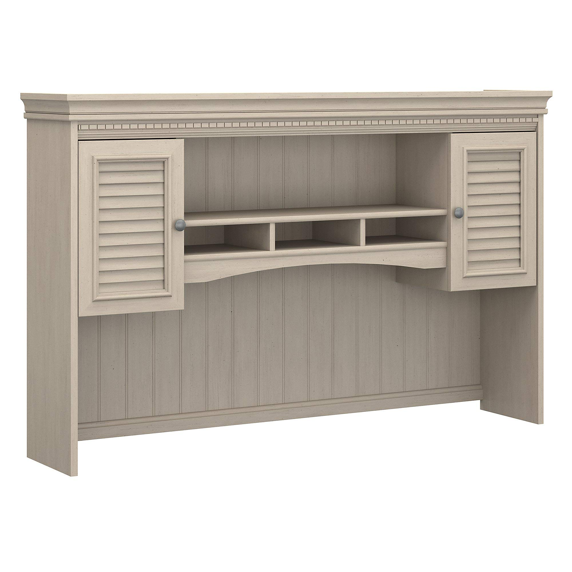 Bush Furniture Fairview Hutch for L Shaped Desk in Antique White by Bush Furniture
