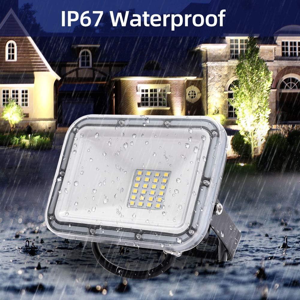 Spot LED Ext/érieur Projecteur LED pour Jardin Artelier Terrasse Entr/ée Garage Viugreum/® 30W LED Projecteur Spot 30W IP67 Moderne Floodlight Blanc Chaud 3000K LED Projecteur 3000LM