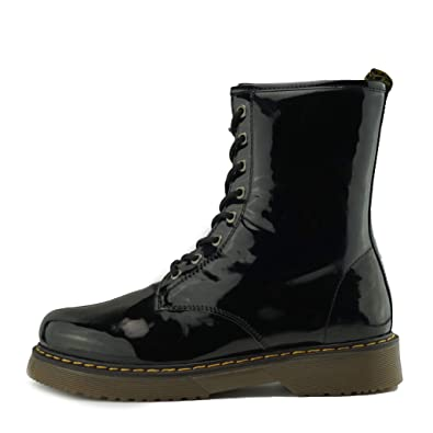 buy online 7f74c 5208e Ladies Ankle Retro Combat Boot Women s lace Funky Vintage Gothic Ankle  Boots (2 UK,