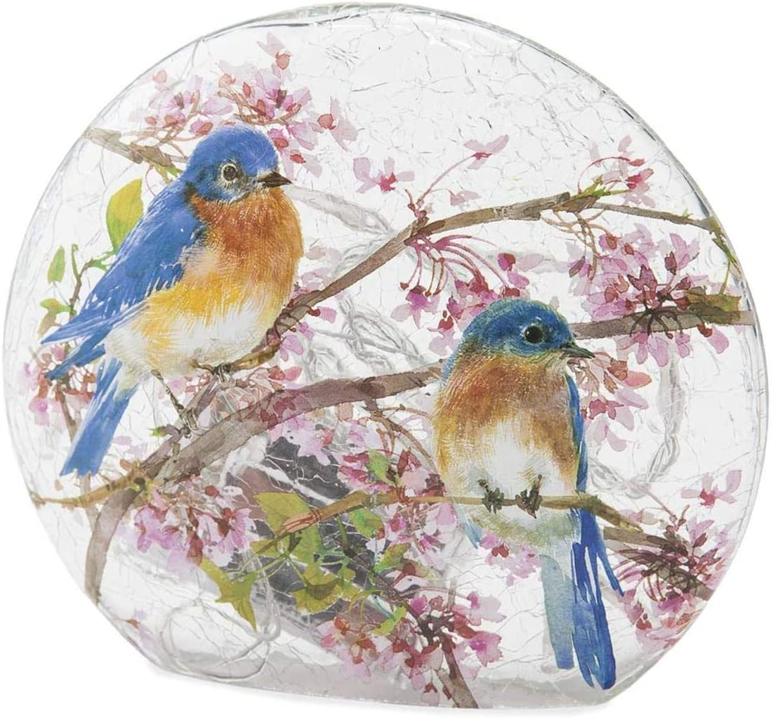 Stony Creek Frosted Glass Round Vase – Bluebirds