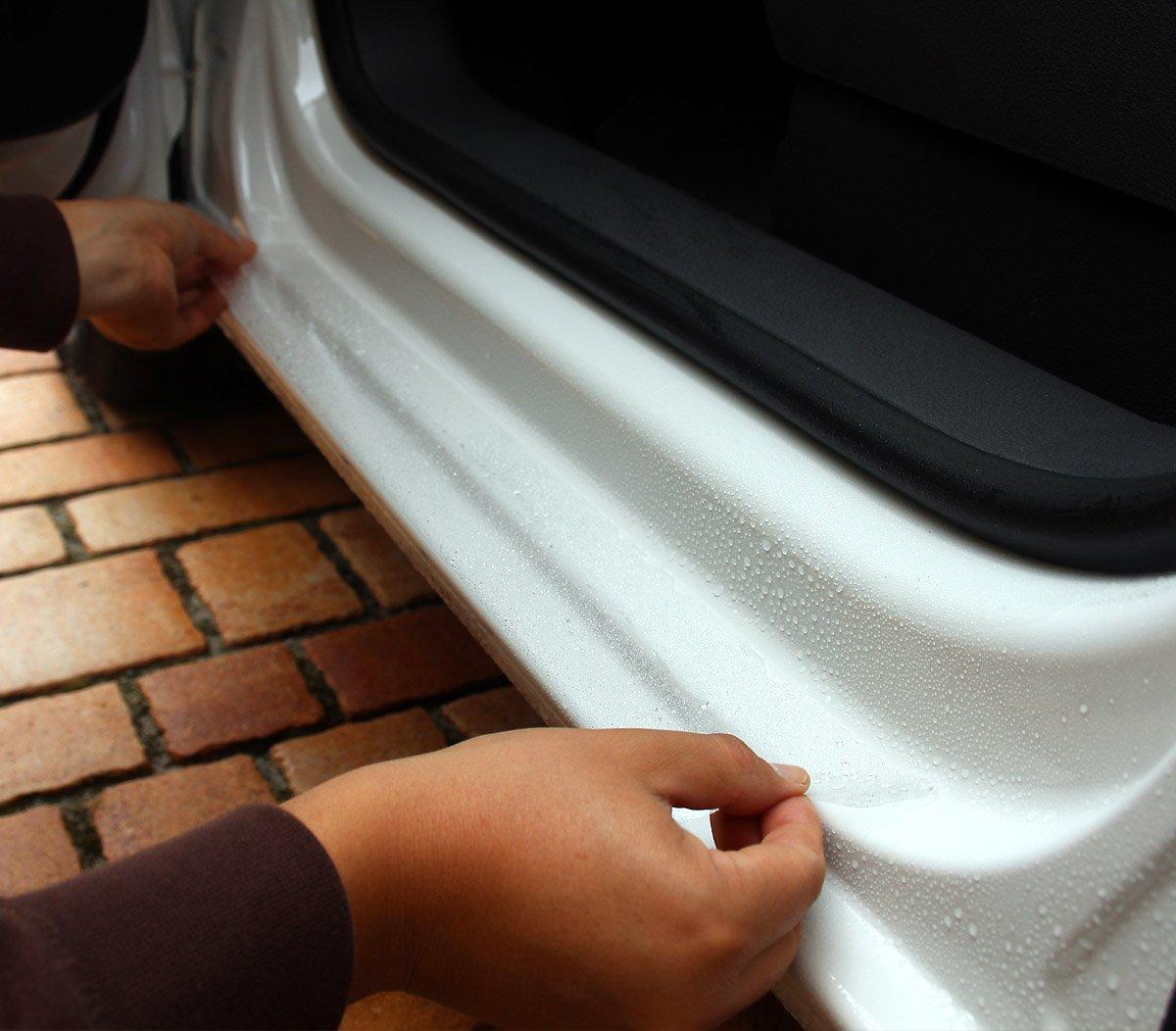 Lackschutz passgenau f/ür Fahrzeugtyp Siehe Beschreibung Passform Lackschutzfolie im Set f/ür Ladekantenschutz und alle Einstiegsleisten//T/üreinstiege transparent 150/µm Lackschutzshop