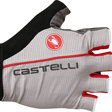 LUNA GREY//RED Castelli CIRCUITO Summer Cycling Gloves