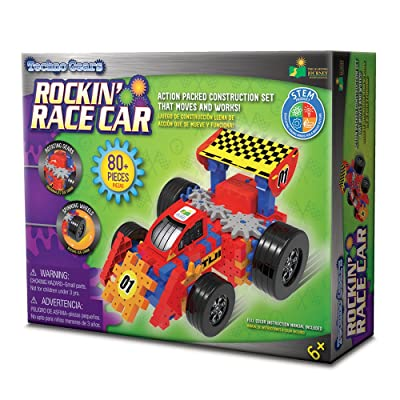 The Learning Journey Techno Gears - Rockin Race Car - STEM 60+Piece Gear Construction Set: Toys & Games