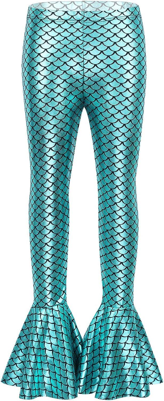 iiniim Disfraz Sirena Niña Pantalones Sirena Leggings con Cola de ...