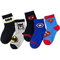 5 pares de calcetines antideslizantes de algodón con diseño de anime de dibujos animados para niños, calcetines…