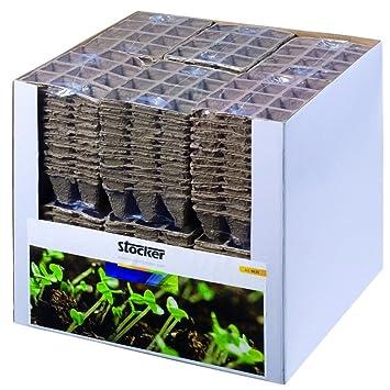 STOCKER Tarro de PC de turba cuadrados de fibra 3x12 JardÍn/huerto propagadores