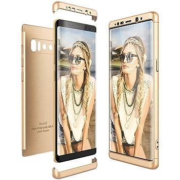 CE-Link Funda Samsung Galaxy Note 8, Carcasa Fundas para Samsung Galaxy Note 8, 3 en 1 Desmontable Ultra-Delgado Anti-Arañazos Case Protectora - Oro