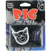 "Pig Piles–Tabla de skate (elevadores duro Negro 1/8"""