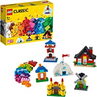 LEGO Classic Bricks and Houses 11008 Kids' Building Toy Starter Set with Fun Builds to Stimulate Young Minds