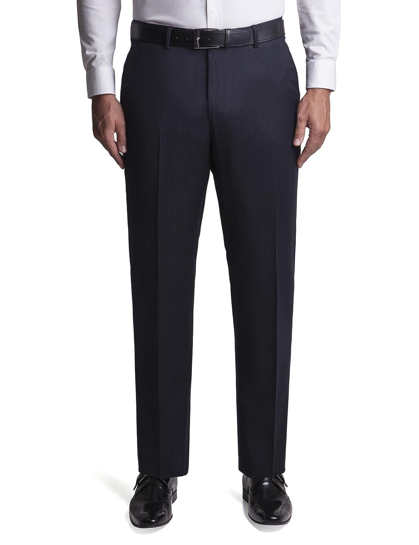 Jeff Banks Navy Chalk Stripe Regular Fit Suit Trouser