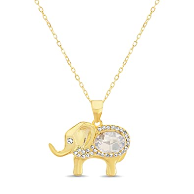 7a65dd873 Amazon.com: Devin Rose Elephant Pendant on 18