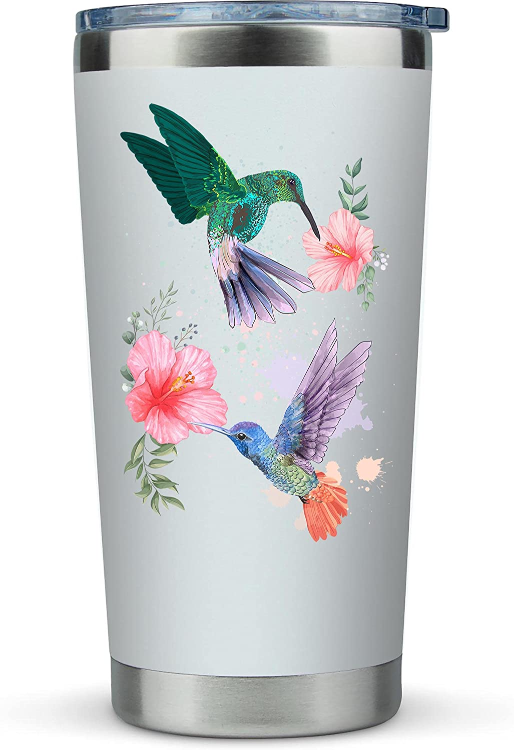 Hummingbird Gifts for Women - Large 20oz Tumbler Mug for Coffee or Any Drink - Cute Gift Idea for Bird Lovers
