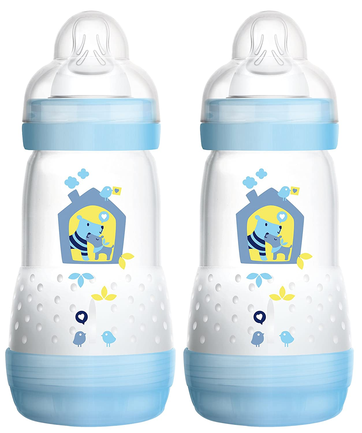 Mam 99921511 Anti-Colic Bottle 260 ml 2-Pack for Boys MAM Babyartikel