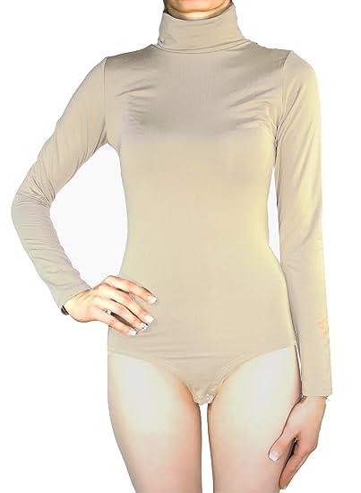 opaco con cuello medio Evoni Body de manga corta para mujer
