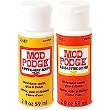 Krafty Kit Mod Podge Bundle: 2oz Gloss and 2oz Matte Water-Based Glue, Sealer & Finish